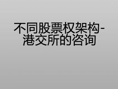 不同股票权架构 – 港交所的咨询